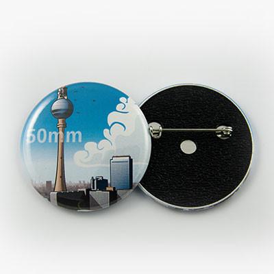 Button Ø 50 mm mit Nadel-Verschluss - Begeisternder-Wahlkampf.de