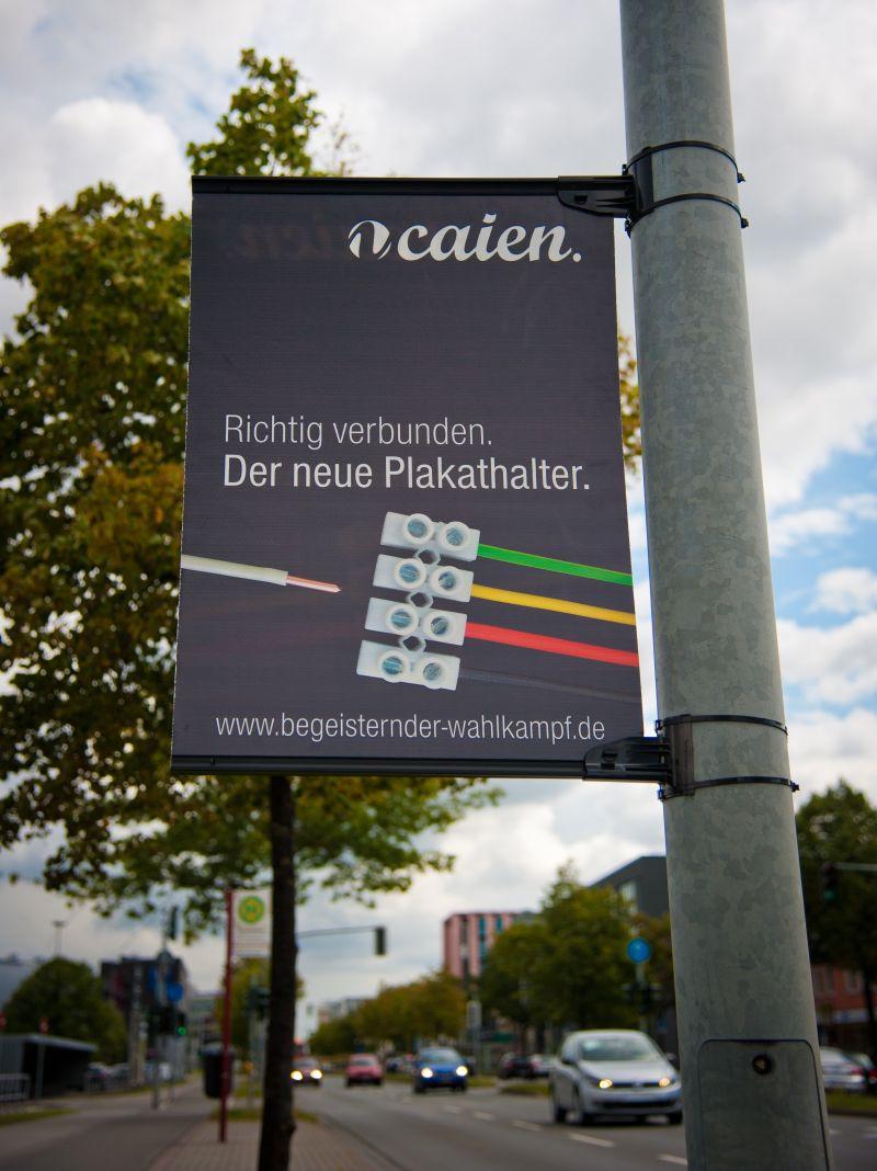 Plakathalter für Hohlkammerplakate - Begeisternder-Wahlkampf.de