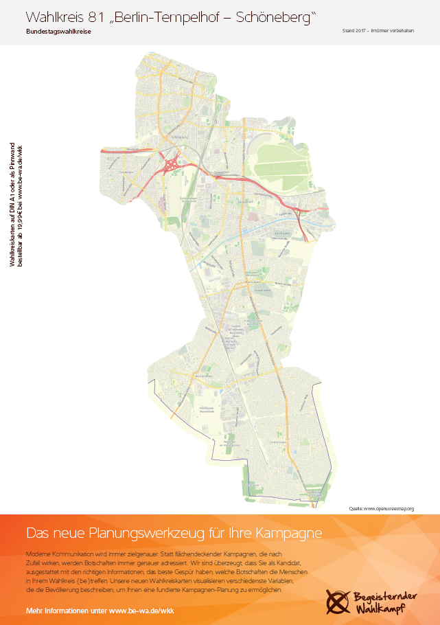 Wahlkreiskarte Pinnwand