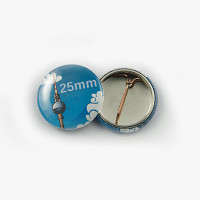 Button Ø 25 mm mit Nadel-Verschluss - Begeisternder-Wahlkampf.de