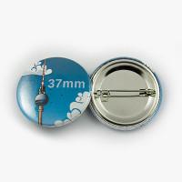 Button Ø 37 mm mit Nadel-Verschluss - Begeisternder-Wahlkampf.de