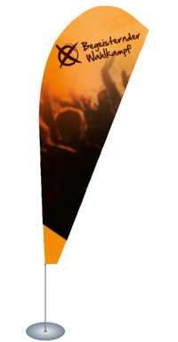 Beachflags - Begeisternder-Wahlkampf.de