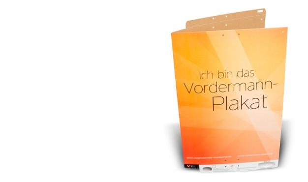 Vordermann-Plakate