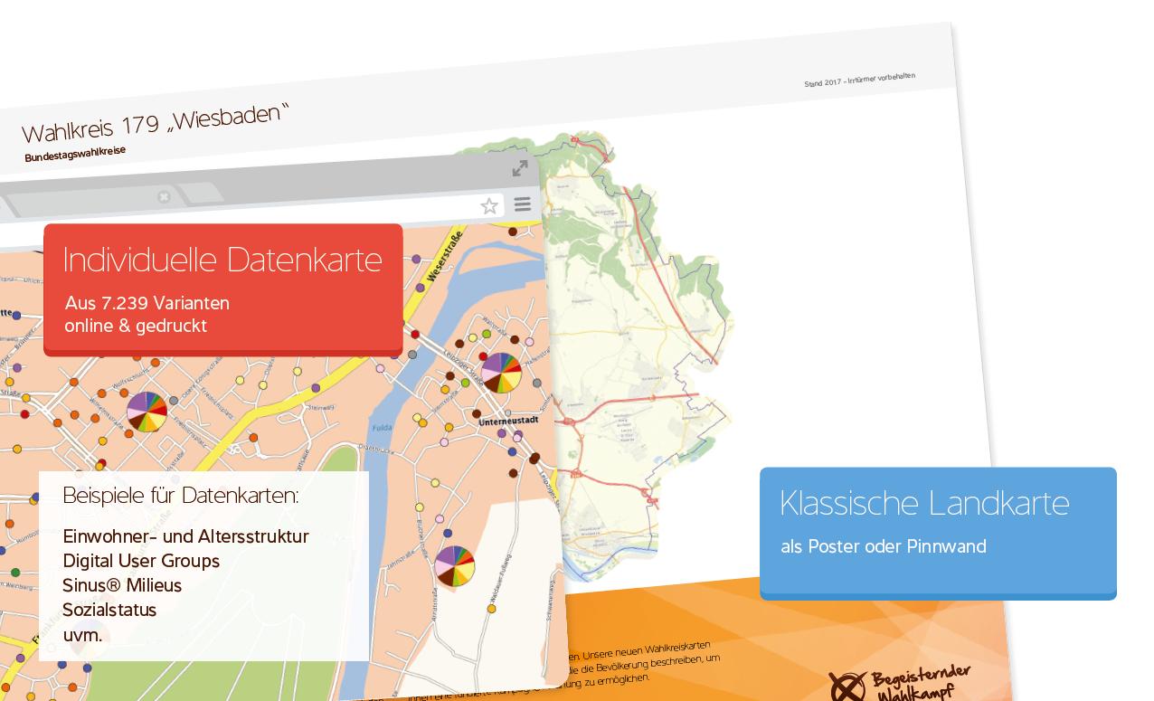 Wahlkreiskarten als Planungstool